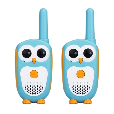 2PCS Retevis RT30 Children Radio Set Civilian Handheld Owl-like Intercom 1 Channel UHF 446.09375MHz Kids Toy PMR License-free Walkie Talkie