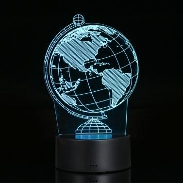 Lampe der visuellen Illusion 3D transparentes Acrylnachtlicht 7 Farbe, die LED-Lampe ändert