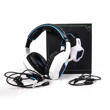LETTON L9 Gaming Headset 3,5-mm-Stereo-Over-Ear-Kopfhörer mit einstellbarem Mikrofon für PC-Laptop-Smartphones