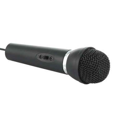 Mini-Mikrofon mit Ständer 3,5-mm-Jack-Desk-Mikrofon für Computer-Gaming-Aufnahmen Chatten-Gesangstreffen