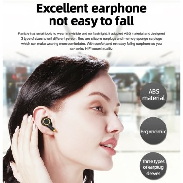 Bluedio Particle TWS Headphones Bluetooth 5.0 Headset Wireless Sport Earphones Mini Music Earbuds with Microphone for Running and Gym