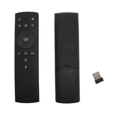 2,4 GHz Fly Air Maus drahtlose Fernbedienung w / Sprachsteuerung 6-Achsen Motion Sensing IR lernen mit USB-Empfänger-Adapter für Smart TV Android TV Box Projektor