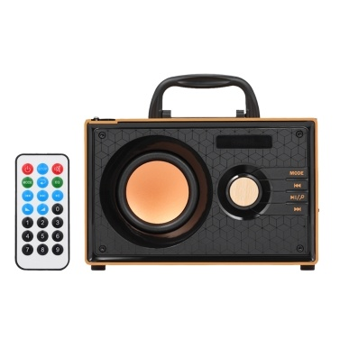 37% OFF RS-A200 Solid Wood Wireless Bluetooth Speaker with Remote Control,limited offer $34.99