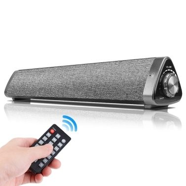LP-1811 Bluetooth 5.0 Speakers 10W Portable Wireless Speaker TV Soundbar Home Theater 3D Stereo Sound Bar Remote Control AUX IN TF Card Reading USB-DAC TV Latop PC