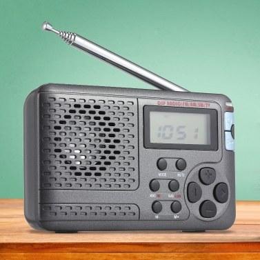 Tragbares Radio AM / FM / SW-Taschenradio mit LCD-Bildschirm Multiband-Digital-Stereo-DSP-Radioempfänger