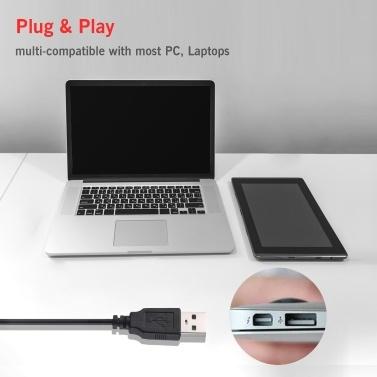 USB-Mikrofon Computer-Aufnahmemikrofon mit Stummschalttaste und LED-Anzeige für Laptop-PC Online-Meeting Chatten Sprachaufzeichnung Podcasting Gaming Singen