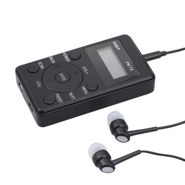 Tragbares FM-Radio DAB DAB + FM-Empfänger mit Kopfhörern Mini-DAB-FM-Sender Wiederaufladbares Digitalradio für Tag und Reise