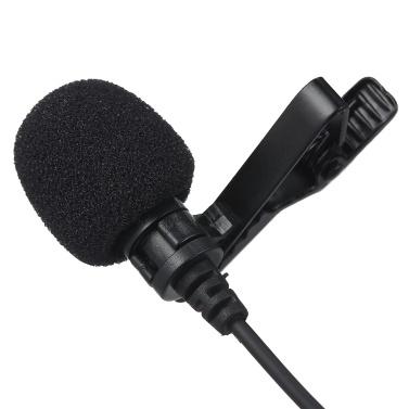 3,5-mm-Aufnahmemikrofon Ansteck-Mikrofon für iOS-Android- / Windows-Handys Clip-Podcast Geräuschloses Mikrofon für Blogger mit 3,0 m Kabel