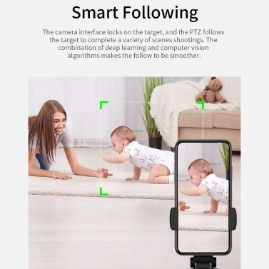 Portable All-in-one Auto Smart Shooting Selfie Stick, 360° Auto Rotation