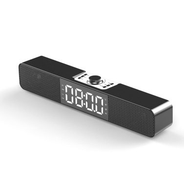 Drahtlose Bluetooth 5.0 Soundbar Wecker Desktop-Lautsprecher