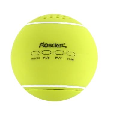 Original Aosder JH-WQBT3 Tennis BT Speaker Wireless Stereo Sound Box TF Card Slot LINE-IN Green iPhone6 Plus 6 Samsung Galaxy S6 Note 5 Notebook Tablet