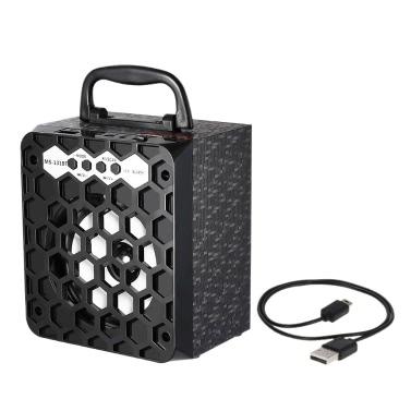 MS-131BT Wireless BT Speaker Multimedia Mobile Loudspeaker USB &3.5mm FM Radio Subwoofer TF Card slot iPhone 6s 6 Samsung LG Notebook Tablet BT-enabled Devices