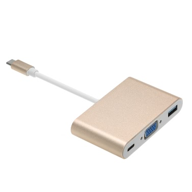 3 1 Type-C Converter Adapter  USB 3.1 Type-C USB 3.0 / 4K HDTV VGA / Type C Female Charging Data Transfer MacBook Google Chromebook Pixel  Devices Type C Connector