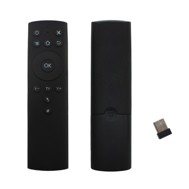 2.4GHz Fly Air Mouse Wireless Remote Control 6-axis Motion Sensing IR Learning with USB Receiver Adapter for Smart TV Android TV Box Projector