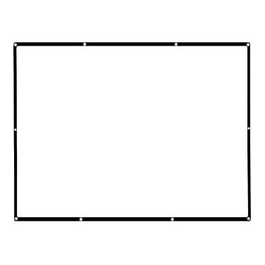 """77 """"tragbarer Projektor-Schirm HD 16: 9 weißes 77 Zoll-diagonaler Projektions-Bildschirm faltbares Heimkino für Wand-Projektion zuhause draußen"""
