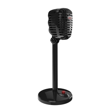JIES Retro Condenser Microphone Wired Mic 3.5mm Port Game Singing Mic for PC Computer
