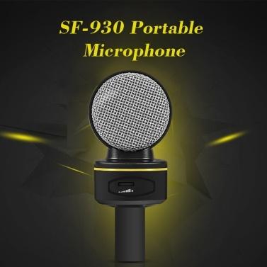 Tragbares Mini-Mikrofon SF-930 für Audio Studio Tonaufnahme PC Laptop Computer 3,5 mm Stecker Stereomikrofon