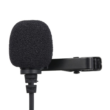 3,5-mm-Aufnahmemikrofon Ansteckmikrofon für iOS-Android- / Windows-Handys Clip-Podcast Geräuschloses Mikrofon für Blogger mit 3,0-m-Kabel 3,5-mm-Audioadapter 4-polig bis 3-polig