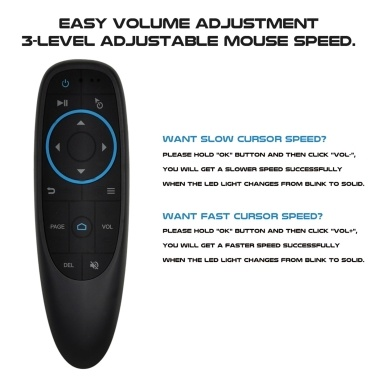 G10BTS Remote Control Bluetooth 5.0 Air Mouse IR Learning Gyroscope Wireless Infrared Remote Control for Android TV Box HTPC PCTV