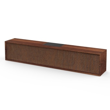 SMALODY 8080 BT Speakers PC Speaker Classic Portable Wooden Wireless Speaker Stereo Bass Soundbox with TF/USB Slot AUX for Computer Gaming Laptop Smartphone