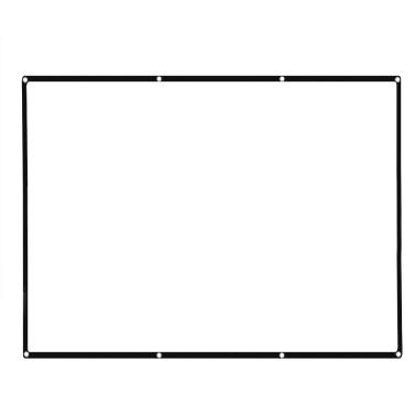 """120 """"tragbarer Projektor-Schirm HD 4: 3 weißes 120 Zoll-diagonaler Projektions-Bildschirm faltbares Heimkino für Wand-Projektion zuhause draußen"""