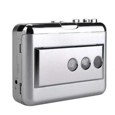 ezcap218B USB-Kassettenaufnahmeband-zu-MP3-Konverter in Computer-Stereo-HiFi-Musik-Player mit Klangqualität