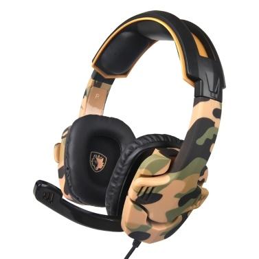 SADES 3,5-mm-Gaming-Kopfhörer Stereo-Over-Ear-Headset-Kopfhörer mit Rauschunterdrückung und Mikrofon-Lautstärkeregler