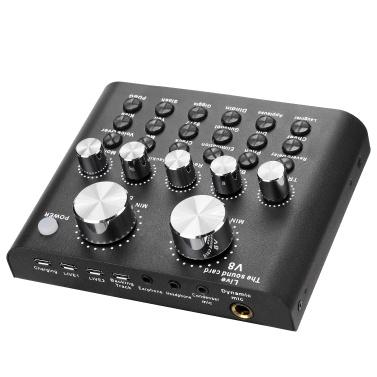 Audio USB Headset Mikrofon Webcast Live Soundkarte Elektrische Soundübertragung für Telefon Computer PC