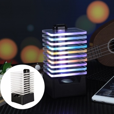 Q8 Kabellose BT-Lautsprecher-LEDs Buntes Licht Resonanzkörper USB-betrieben Eingebaute 850-mAh-Hochleistungsakkus für die Freizeit zu Hause Tragbar