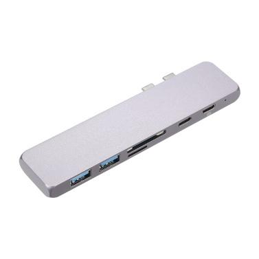 Dual-Port-USB-Adapter 4K Thunderbolt 3 USB-Typ-C-Hub
