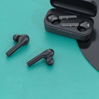 Xiaomi QCY T5 TWS Touch-gesteuerte kabellose Stereo-Kopfhörer IPX5 Wasserdichte Sport-Ohrhörer mit Mikrofon-Ladekiste