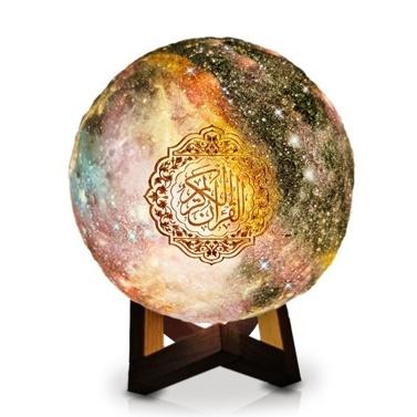 Novo Estilo QB512 Muçulmano Presente O Alcorão Tridimensional BT Speaker Moon Light Player