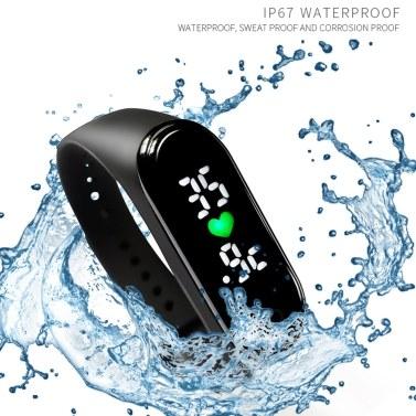 M5 Smart Band Körpertemperaturmonitor Smart Armbanduhr Zeitanzeige Sport Smartwatch IP67 Wasserdicht