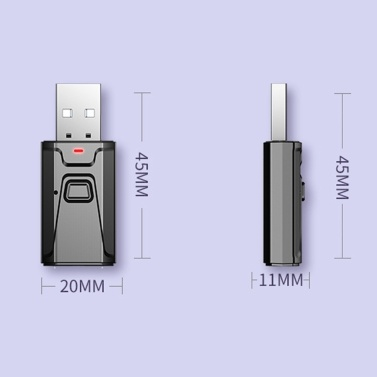 BT Receiving And Transmitter Two-In-One Audio Adapter Free Drive Plug And Play Compatible With 3 Generation Headphones BT Emitter
