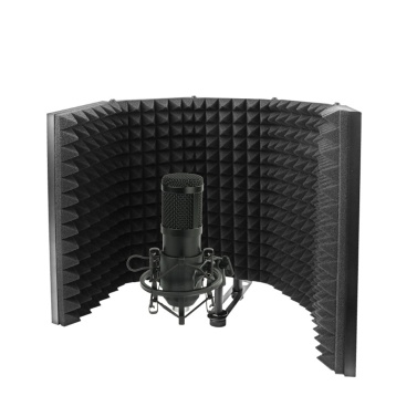 Foldable Adjustable Sound Absorbing Vocal Recording Panel Portable Acoustic Isolation Microphone Shield Sound-proof Plate