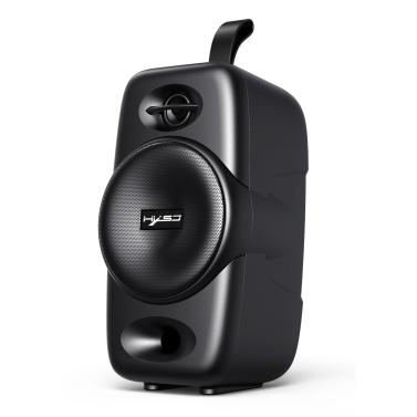 HXSJ Q8 Desktop Wireless Bluetooth 5.0 Lautsprecher Tragbare Soundbox für den Außenbereich TWS-Verbindung TF-Karte U-Festplatte AUX IN Musik-Player Wiederaufladbarer Akku USB-Ausgang