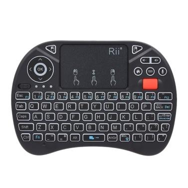 Rii i8X Plus 2.4GHz Backlit Wireless QWERT Keyboard Voice Input