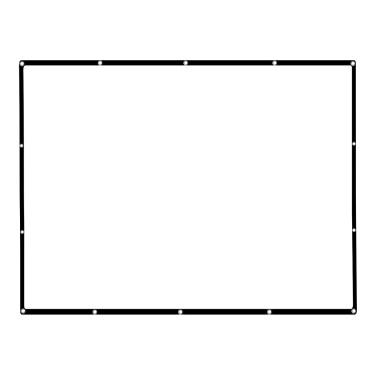 """136 """"tragbarer Projektor-Schirm HD 16: 9 weißes 136 Zoll-diagonaler Projektions-Bildschirm faltbares Heimkino für Wand-Projektion zuhause draußen"""