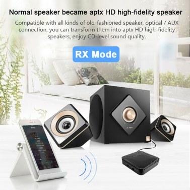 Xu21 Bluetooth 5.0 Sender Empfänger CSR8675 APTX LL HD BT Audio Musik Wireless USB Adapter 3.5mm 3.5 AUX Buchse / SPDIF / RCA für TV PC