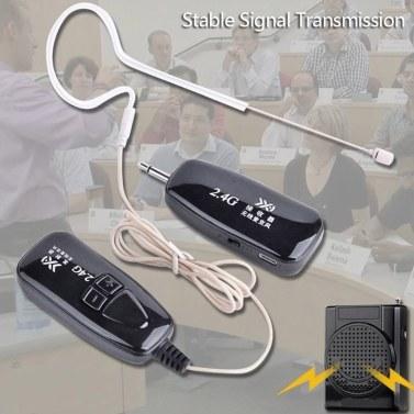 2.4G Drahtloses Mikrofon Ohrhaken Clip Hautfarbmikrofone Unsichtbarer MIC-Sender Empfänger für Sprachverstärker Lautsprecher