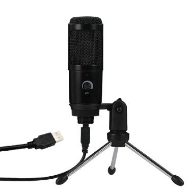 Condenser Microphone USB Microphone Karaoke Recording Broadcasting Podcasting Clip Tripod Plug Play Laptop Desktop PC