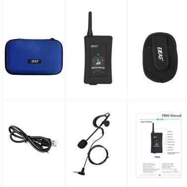 EJEAS FBIM Motorcycle BT Handsfree Intercom Wireless 1200M Headset Real Time Full Duplex Referee BT Interphone FM Radio 850mAh Battery
