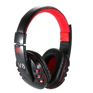Pro V8 4.0 BT Stereo Kopfhörer Wireless Gaming HiFi Kopfhörer Freisprecheinrichtung Ohrhörer mit verstellbarer Kopfbügel weiß mit Mikrofon für iPhone 6 6Plus Samsung S6 S5 Anmerkung 4 3 HTC LG Notebook Tablet PC blau + schwarz