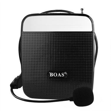 BOAS BQ-800 Lautsprecher High Power Lautsprecher Stimme Verstärker Unterstützung FM Radio MP3-Player w / Mikrofon schwarz für Lehrer Tour Guide Sales Promotion