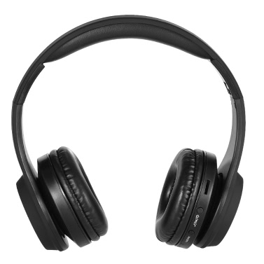 BT Headphones Headsets BT 4.2 TF Card 3.5mm AUX-IN Port FM Radio iPhone Samsung LG BT-enabled Devices Black