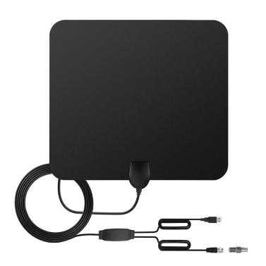 Indoor HD Digital TV Antenna with 80 Miles Long Range,free shipping $13.99(code:TT41B)