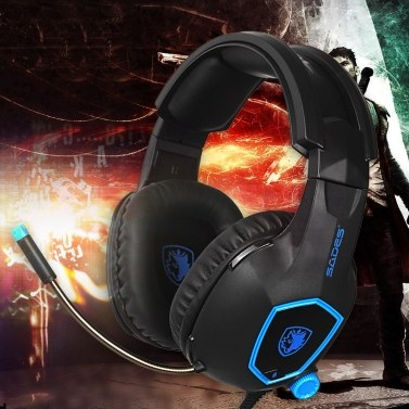 SADES SA-818 3.5mm Wired Gaming Headsets Over Ear Headphones Noise Canceling Earphone with Microphone Volume Control for Laptop PS4 New XBOX ONE Smart Phone