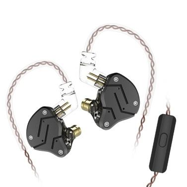 KZ ZSN 3,5 mm In-Ear-Metall-HiFi-Kopfhörer mit Mikrofon
