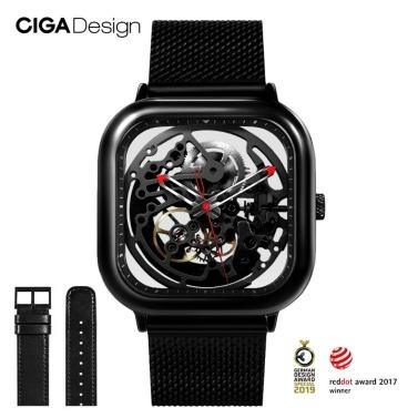 Xiaomi youpin CIGA Design ausgehöhlte automatische mechanische Uhr Business Men Wrist Watch