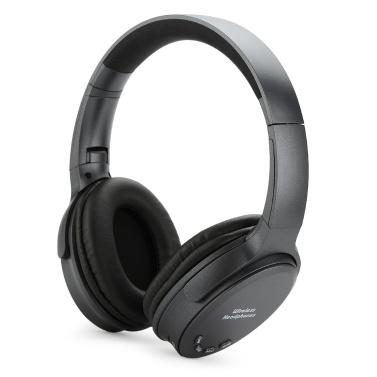Bluetooth 5.0 On Ear Headphones con micrófono Auriculares plegables portátiles Estéreo Auriculares para bajos Diadema ajustable Ranura para tarjeta TF AUX EN Radio FM